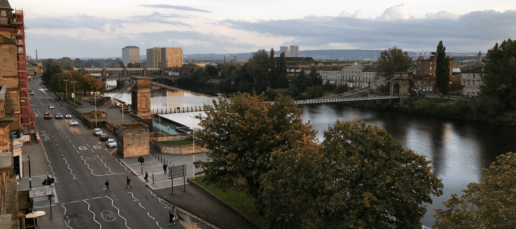 The View From The Balcony Overlooking The River Clyde