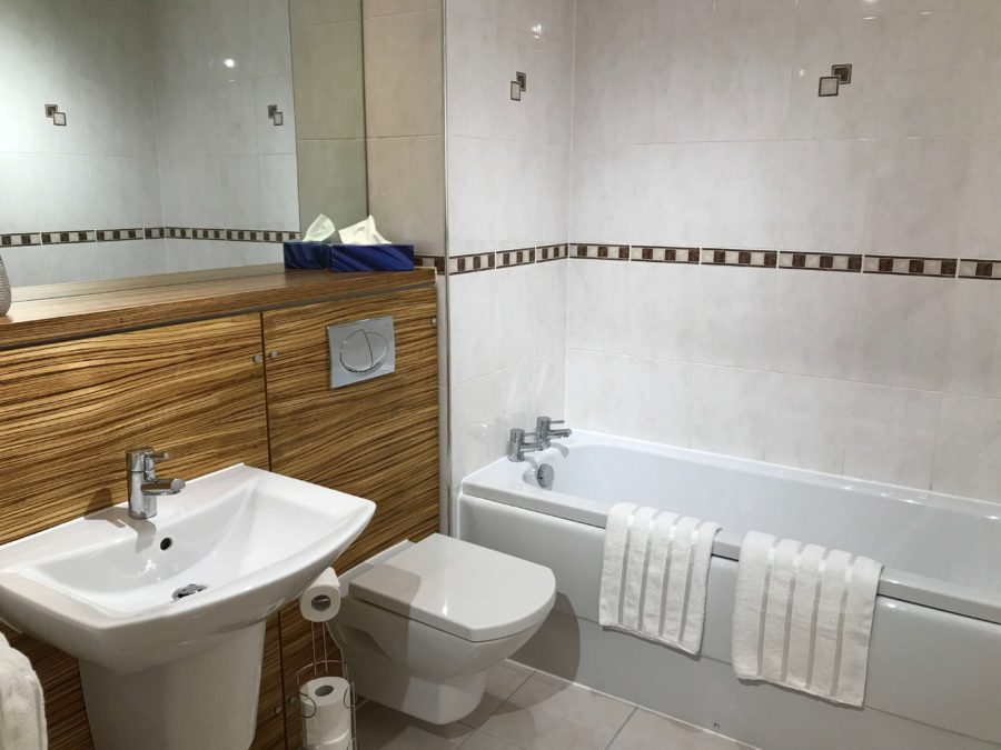 master bathroom glasgow apartment
